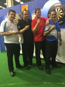 2016-05-07 - BDO World Trophy - Ryan Joyce (Tyne & Wear), Barry Lynn (Essex), Ross Montgomery (Fife) and Nick Kenny (Gwent).